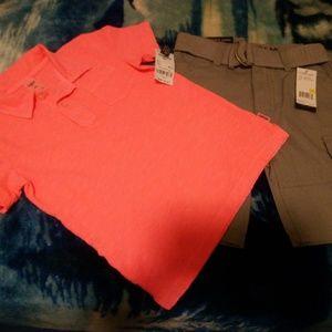 New Oshkosh Polo Shirt & US Polo Shorts